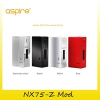 Wholesale Dhl Profile - Authentic Aspire NX75-Z Mod TC 75W Box Mod New Customizable Firing Button Profiles (CFBP) Function Zinc-Alloy 100% genuine DHL Free 2210067