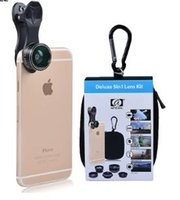 Wholesale Iphone Gopro - APEXEL 5 in 1 Fish Eye Wide Angle Macro lens Telescope telephoto lens CPL Mobile Phone camera lens For iPhone Samsung xiaomi DG5