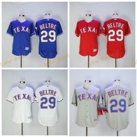 Wholesale Gray Baseball Uniforms - Flexbase 29 Adrian Beltre Jersey Texas Rangers Baseball Jerseys Adrian Beltre Uniforms Cool Base Team Color Blue Red White Gray Green