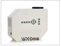 Wholesale Atco Projectors - Wholesale- ATCO UC30 800Lumens LED Mini pico pocket projetor 3D Home Theater Projector HD Proyector Beamer best slae