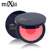 Wholesale Natural Plant Extract - Wholesale-Mixiu New Modified Makeup Blush Soft Natural Plant Extract 2 Color Dual Use Pressed Powder Baked Blusher Palette Cosmetic Set