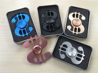 Wholesale Tv Shaped Gifts - Fidget Spinner Dollar Shape Spinning Toys Hand Stress Reducer for Autism and ADHD Relief Focus Anxiety Stress Gift