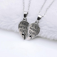 Vente en gros - 1 set Femmes Amants Couples Bijoux Vintage Broken Heart Parts 2