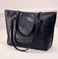 Wholesale Extra Large Tote Bags - Women's Big Size Handbag Tote Shoulder Bags Soft PU Material 42cm Hight 33cm Width 28cm Thickness 65cm Strap Length out140