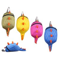 bolsa de lona para meninos venda por atacado-3D Mochila de dinossauro Mochilas Escolares Mochilas dos desenhos animados Para Meninas Adolescentes Meninos ombros saco C1611