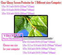 Wholesale computer screen film - Wholesale-universal 10.1 11.6 12.6 12.5 13.3 14.6 15.6 inch 16:9 Clear Glossy protective film tablet screen protector notebook computer