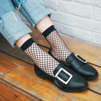 Wholesale Fishnet Ankle Socks - 2017 Hot Selling Fashion Women Highly Stretchable Short Hosiery Ankle Socks Sexy Fishnet Solid Black Socks