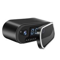 ağ ip güvenlik kamera hd toptan satış-WIFI Saat IP Ağ kamera HD 1080 P H.264 Gece Görüş Saat Video Kamera alarm saati pinhole Kamera ev güvenlik kamera