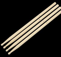 Wholesale maple wood types - Wholesale-1Pair Lightweight Endearing Music Band Maple Wood Oval Tip Drum Sticks 5A