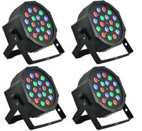 Disco 512 Pas Cher-Lumière de scène led 18x3W 54W 6 canaux RGB Led Flat Par Lighting pour Club DJ Stage Party KTV Disco DMX 512 Control Led Effect