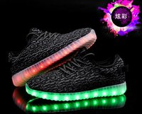 Wholesale Wholesale Lace Fabric For Sale - Hot Sale LED light flashing shoes with USB charge unisex fluorescent couple shoes running snakers sport casual shoes for adults