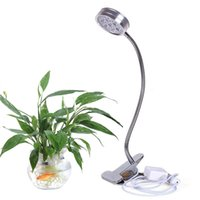 Wholesale Desk Clip - LED Plant Grow Light 7W Desk Clip Lamp with Flexible 360 Degree Gooseneck Arm and Spring Clamp For Indoor Plants Greenhouse