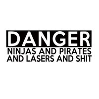 Wholesale Sticker Danger - For Danger Ninjas And Pirates And Lasers Sticker Jdm Funny Vinyl Decal Car Styling Accessories Art Graphics