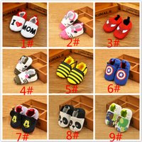Wholesale Infant Baby Shoe Style - 30 style Non-Slip Soft Toddler Cartoon Fashion Shoes Infant Baby Kids Girl First Walkers Spring Autumn baby antiskid shoes JC225