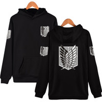 Wholesale Hot Titans - Wholesale- 2017 Latest Fashion Hoodies Attack On Titan Harajuku Hooded Sweatshirt Recon Corps Design Hoodie Hip Hop Brand Clothing Hot Sale