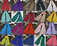 Wholesale Crinkled Scarfs - 2017 New Women Soft Super Long Crinkle Scarves Wraps Shawls Stole Fashion Multicolor Punk Scarf - 26Color