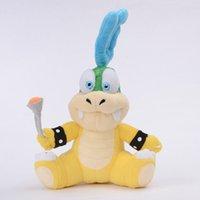 ingrosso giocattolo della peluche di larry koopa-Commercio all'ingrosso-Larry Koopa Super Mario Bros Peluche Cheatsy maschio Koopalings peluche ''