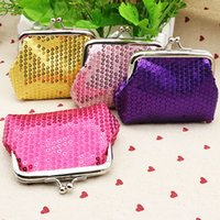 Mais novos Sequins Coin Purse Moda Coin Bag Key Holder Carteira Hasp Buckles Small Gifts Bag Clutch Handbag Banco Card Casual Bag WX-W16