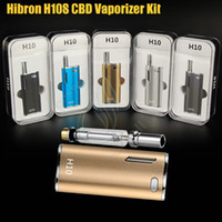 Wholesale Blue Upgrades - Authentic Hibron H10 Starter Kit 650mAh 10W Box Mod Upgraded Thick Oil CE3 BUD CO2 0.8ml Cartridges Atomizer O pen vs Mystica Vaporizer DHL