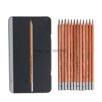 2h crayons achat en gros de-Fournitures d'écriture 12Pcs / Set Marco 2H-8B Soft Safe crayons à croquis non toxiques toxiques Professionnels Dessin Office School Pencil pour Kid Gift