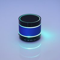 Wholesale Mini Led Lights Rings - S09 Wireless Bluetooth LED Speaker Enhanced Speaker 3 LED Light Ring Super Bass Metal Mini Portable Beat Hi-Fi Handfree FM Radio 0802211