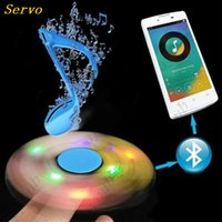Wholesale Kids Star Projector - LED USB cube fidget spinner with bluetooth speaker Audio Handspinners fidget fingers toys for Decompression Anxiety toy Kids Adult Funny