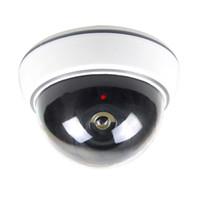 Wholesale Camera False - Anti-theft High Simulation False Monitor 1.5V AA batteries LED Flicker light Hemisphere Simulation Camera Indoor and Outdoor Monitoring DHL