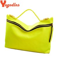 Wholesale Handbag Neon Color - Wholesale- HOT!!!New arrived Women Handbag PU Leather bags women messenger bag Neon Color Shoulder Bags D