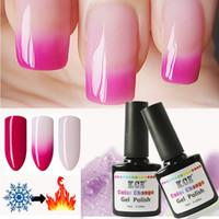 Wholesale Gradient Nail Polish - Newest Nail Polish Temperature Change Nail Color UV Gel Polish Gradient Nail Gel for Nail gel polish 10ml  1pc