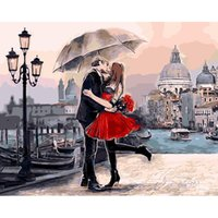 Wholesale Kissing Paintings - Romantic Kiss Lover 5D DIY Mosaic Needlework Diamond Painting Embroidery Cross Stitch Craft Kit Wall Home Hanging Decor