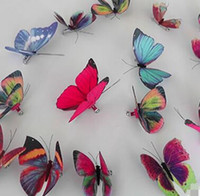 Wholesale Wholesale Indian Flower Wedding Decorations - 92 Styles Women Flower Brooches Christmas Brooch Pins 3D Butterfly Decorations Cloth Simulation Butterfly Pins Brooch Butterfly Pins Free Sh