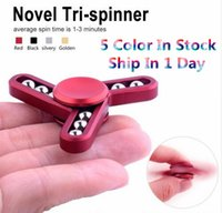 Wholesale Tin Box For Kids - 9 balls fidget Spinner Fingertip vision spinner Gyro hand Spinner Decompression Anxiety Toys for EDC aluminium alloy with the Tin box