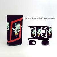 Wholesale Alien Fashion - Smok Alien 220W Skin Wraps Sticker Cases Cover for Alien 220 Watt TC Box Mod Vape Protective Film Stickers With Fashion 18 Pattern