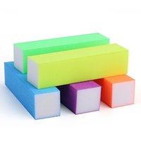 beyaz blok tamponları toptan satış-V1 D084 Toptan Sıcak Satış Nail Art Floresan Tırnak Dosyaları Tampon Dikdörtgen Beyaz Kalp Zımpara Blok Tampon Tırnak Sanat Sünger Dosya