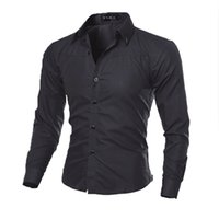 Wholesale Cheap Long Sleeves Shirt - Wholesale- Luxury Fashion Mens Long Sleeve Shirt Social Slim Fit Men Clothing Casual Shirts Dress Male Top Cheap Clothes China 4XL 5XL