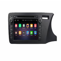 Wholesale Dvd Player For Honda City - ROM 32G Octa core 8inch 1024*600 Android6.0 car DVD video player for Honda City 2014 right with WIFI Bluetooth USB DVR OBD