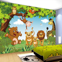 Wholesale Fiber Animation - Cartoon Animation child room wall mural for kids room boy girl bedroom wallpapers 3D mural wallpaper custom any size