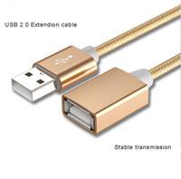 transfert de câble achat en gros de-Câble d'extension USB 2.0 super vitesse Câble d'extension USB 2.0 mâle à femelle 1m Câble d'extension de transfert de données USB