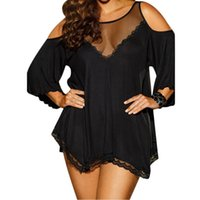 Wholesale Sexy Black Pajamas Hot - Plus Size M~7XL Women Sexy Lingerie Hot Large Code Sexy Underwear Princess High-grade Pajamas Erotic Lingerie erotic lingerie R80190