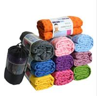 yoga battaniyeleri ücretsiz gönderim toptan satış-Fedex Tarafından 50 adet / grup Ücretsiz Kargo Birinci sınıf kaliteli Yoga Battaniye 180 cm Genişletilmiş yoga havlu, yoga mat
