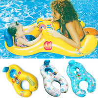 Safe Soft Inflatable Mother Baby Swim Float Ring Kids Water Bathing Inflatable Siège flottant Double Person Anneau de bain