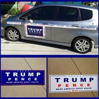 Wholesale Bumpers For Cars - 100pcs Lot Car Decals Donald Trump for President Make America Great Again Bumper Sticker Exterior Accessories 4585