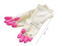 Wholesale Long Sleeve Latex Gloves - 1Pair Thin Type Household Cleaning Gloves Long-sleeve Dish Washing PVC Rubber Latex Mitt Mitten Kitchen Tools Dishes Car Clean Gloves