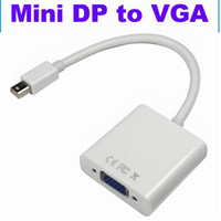 1000pcs / lot Mini-DP zum VGA Thunderbolt Mini-Display-Port zum VGA-Konverter-Kabel-Adapter für Apple Macbook Mac Pro Air