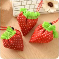 Wholesale Strawberry Fabric Wholesale - Portable Strawberry Bag Creative Foldable Shopping Bags Reusable Environmental Protection Pouch Personalized Fruit Package 1 55hd