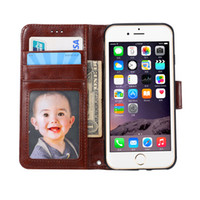 Wholesale Cellphone Holder Wallet - Luxury Leather Wallet Case for iPhone 7 6s Plus SE for Samsung S6 S7 S7edge A310 A510 Fashion CellPhone Cover with Card Holder