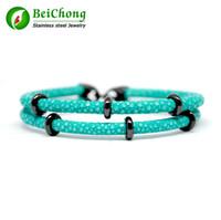charme armbänder thailand großhandel-BC Armbänder Charm Armbänder Edelstahl Herrenuhr Zubehör Luxus Thailand Leder Stingray Echtlederband