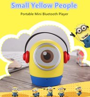 Wholesale Doll Small Box - Wholesale and retail - computer speakers, small yellow dolls portable mini Bluetooth speakers, new packaging free shipping, computer accesso