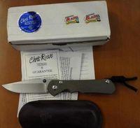 Wholesale D2 Sebenza - 2017 Chris Reeve Large Sebenza 25 Folding knife sebenza 25 anniversary D2 blade with stone wash TC4 titanium alloy handle