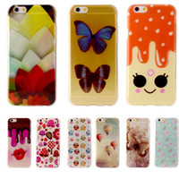 "Wholesale Butterfly Iphone Covers - 2017 Butterfly Flower Lips Coque For Apple iPhone 6 iphone 6s Case 4.7"" Cute Soft Plastic Silicone Cartoon Printing Phone Cover free dhl"